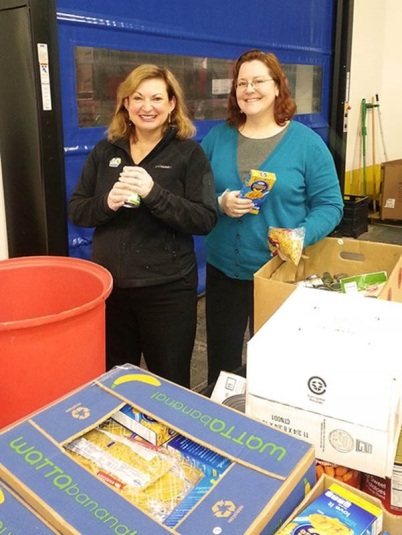 Terri and Andrea Food Bank